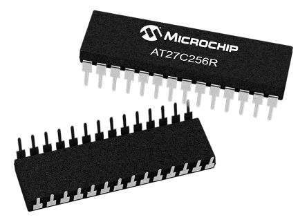 Microchip AT27C256R-70PU, EPROM 256kbit 32K x 8 bit 70ns 28-Pin PDIP