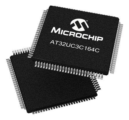 Microchip AT32UC3C164C-AUT, 32bit AVR32 Microcontroller, 66MHz, 64 kB Flash, 100-Pin TQFP
