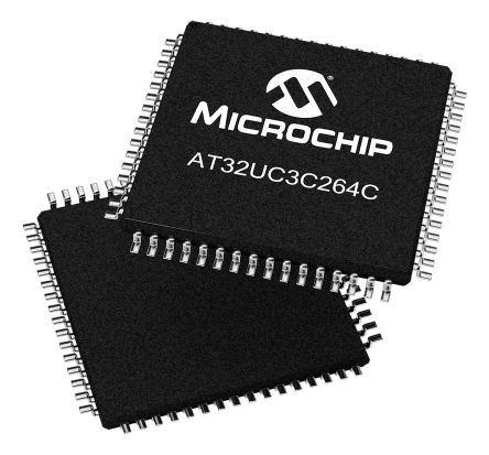 Microchip AT32UC3C264C-A2UT, 32bit AVR32 Microcontroller, 66MHz, 64 kB Flash, 64-Pin TQFP