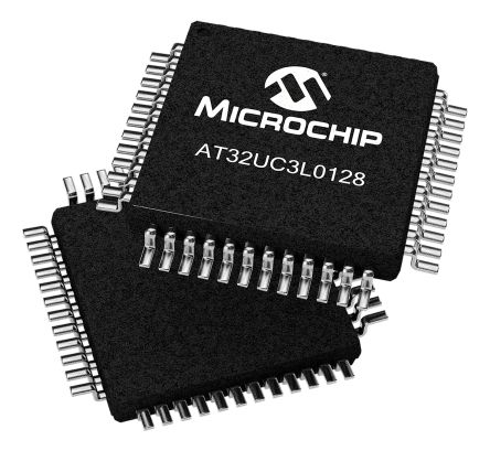 Microchip AT32UC3L0128-AUT, 32bit AVR32 Microcontroller, 50MHz, 128 kB Flash, 48-Pin TQFP