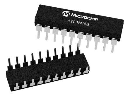 Microchip Technology ATF16V8B-15PU, SPLD Simple Programmable Logic Device ATF16V8B 150 Gates, 8 Macro Cells, 8 I/O,