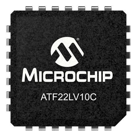 Microchip ATF22LV10C-10JU, SPLD Simple Programmable Logic Device ATF22LV10C 350 Gates, 10 Macro Cells, 10 I/O, 83.3MHz