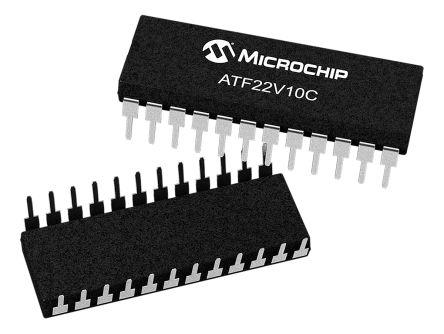 Microchip Technology ATF22V10C-7PX, SPLD Simple Programmable Logic Device ATF22V10C 350 Gates, 10 Macro Cells, 10 I/O,