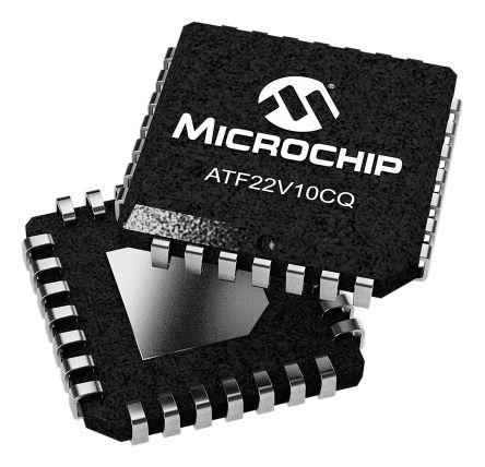 Microchip ATF22V10CQ-15JU, SPLD Simple Programmable Logic Device ATF22V10C 350 Gates, 10 Macro Cells, 10 I/O, Minimum