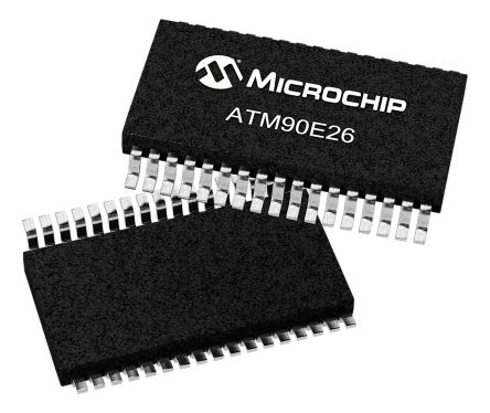Microchip ATM90E26-YU-B Energy Measurement IC, 16 bit, 28-Pin SSOP