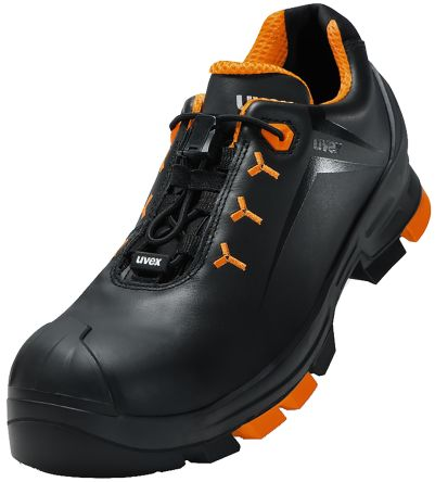 2020be44b34 Uvex uvex 2 Black/Orange Non Metal Toe Unisex Safety Shoes, UK 13