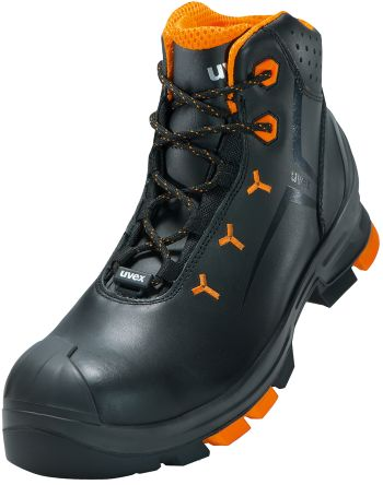 c8ac13716d6 Uvex uvex 2 Black/Orange Non Metal Toe Unisex Safety Boots, UK 13