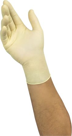 Ansell White Latex Gloves size 9.5 - XL Powder-Free x 100