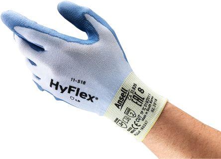Ansell HyFlex Blue Cut Resistant Nylon Polyurethane-Coated Reusable Gloves 9 - M