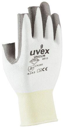 Uvex Unidur Grey, White Cut Resistant Dyneema Fibre, Elastane Polyurethane-Coated Reusable Gloves 7 - S