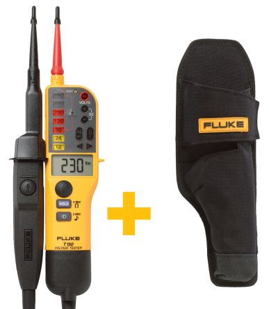 -T150 Voltage Indicator and H15 Holster with RCD Trip Test Continuity Check CAT III 690 V, CAT IV 600 V