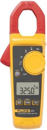 Fluke 325 Clamp Meter, Max Current 400A ac, 400A dc CAT III 600 V, CAT IV 300 V