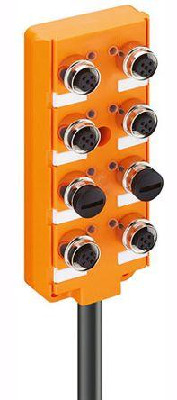 Alpha Wire 915, 6 Port Sensor Box with 5 Way M12 Sockets