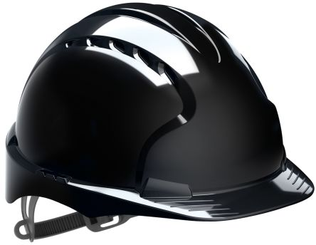 EVO2 Black HDPE Standard Peak Vented Hard Hat product photo