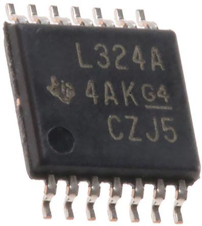 Texas Instruments TLV4316IPWR, Quad Precision Op Amp, RRIO, 10MHz, 14-Pin TSSOP