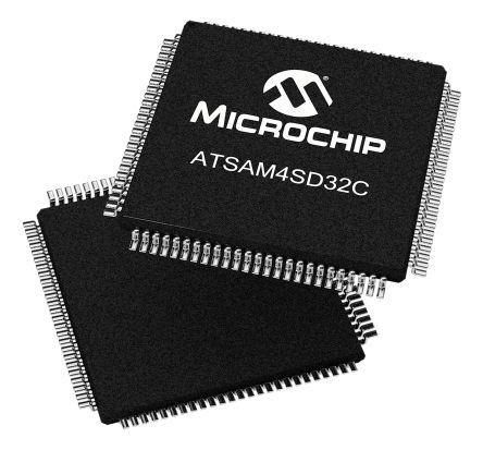 Microchip Technology ATSAM4SD32CA-AU, 32bit ARM Cortex M4 Microcontroller, 120MHz, 2.048 MB Flash, 100-Pin LQFP