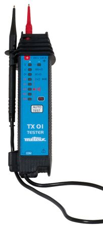 Chauvin Arnoux TX 01 Voltage Indicator with RCD Trip Test Continuity Check CAT III 600 V