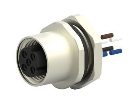 TE Connectivity, T417 Series, Straight M12 to Unterminated Industrial Automation Cable Assembly, 5 Core 220mm Cable