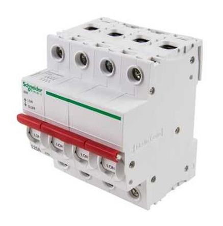 SEA91254 | 4 Pole DIN Rail Switch Disconnector, 125 A, IP20, IP55 ...