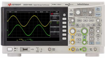 Keysight Technologies 1000 X Series DSOX1102G Digital Oscilloscope, Bench, 1 (Digital), 2 (Analog) Channels, 70MHz