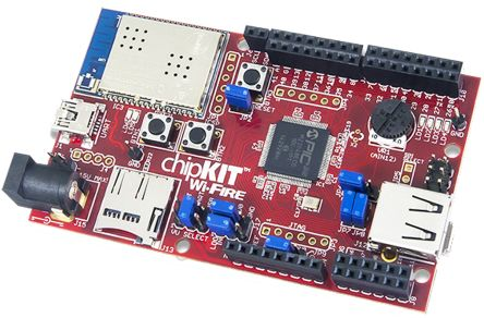 chipKIT Wi-FIRE PIC32MZ MCU Board + WiFi