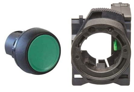 Allen Bradley, 800F Green Round Push Button, SPNO, 22 5mm Momentary Screw
