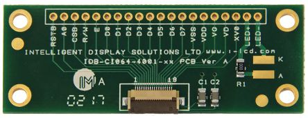 IDS IDB-CI064-4001-XX-02, Alphanumeric Display Connector Adapter Interface Board