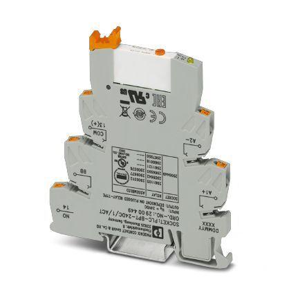 PLC-RPT- 24DC/ 1AU/MS/SEN Series 24V dc DIN Rail Interface Relay Module, SPNO, Push In product photo