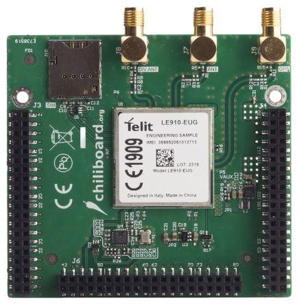 1348754  Grinn 射频开发套件 GLONASS (GNSS), GPS, 移动通信(蜂窝) 夹层 chiliboard M2M 4G chiliBoard