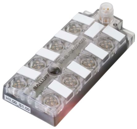 BALLUFF M12 4-Pin - 8 x M12 5-Pin Male Input/Output Module for use with  Harsh Industrial IO-Link, 18 → 30 2 V dc