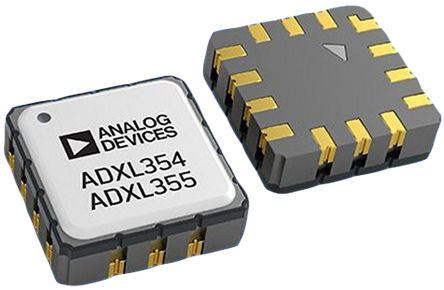 Analog Devices ADXL355BEZ, 3-Axis Accelerometer, SPI, 14-Pin LCC