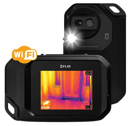 FLIR C3 Thermal Imaging Camera, Temp Range: -10 → +150 °C RS Cal