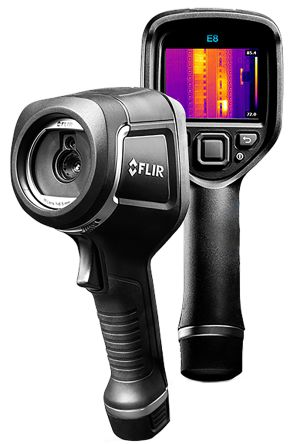 FLIR E8 WiFi Thermal Imaging Camera, Temp Range: -20 → +250 °C 320 x 240pixel RS Cal