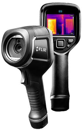 FLIR E5 WiFi Thermal Imaging Camera, Temp Range: -20 → +250 °C 120 x 90pixel RS Cal