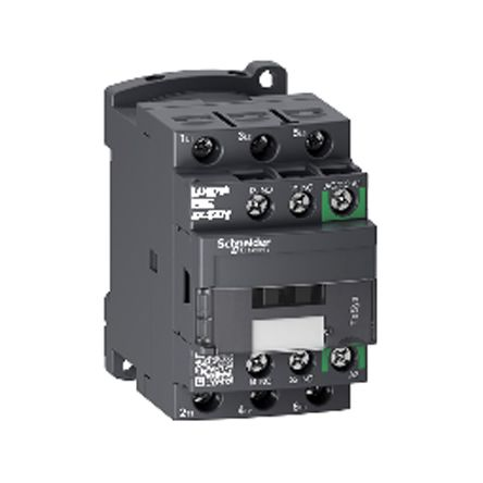 TeSys D Green LC1D 3 Pole Contactor, 3NO, 18 A, 7.5 kW V ac @ 380 → 400, 24 → 60 V ac/dc Coil