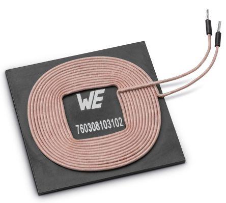 Wurth Elektronik Axial Wireless Charging Transmitter Coil, Ferrite, 7A,  55mΩ, 130 Q Factor