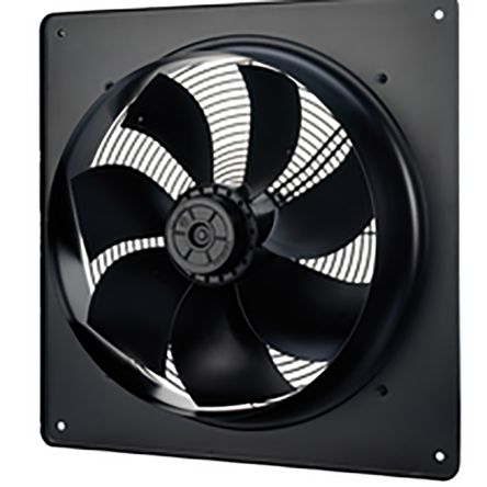 166W Plate Mounted Sickle Fan, 412mm, 230 V ac