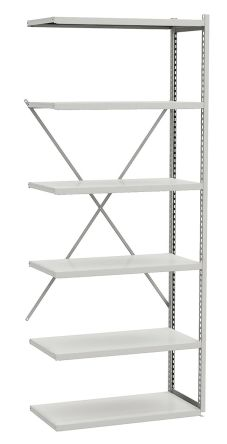Grey Storage Rack System Steel Extension Bay, 149.69 (Shelf) kg, 99.79 (Section) kg Load, 2000mm x 500mm product photo