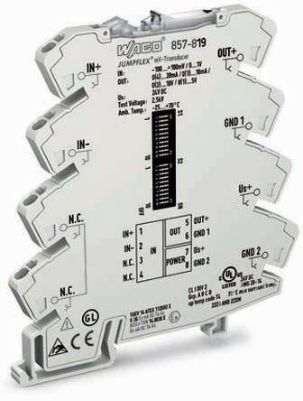 Wago Milivolt Transducer Signal Conditioner, ATEX, IECEx, 0 → 1000 mV Input