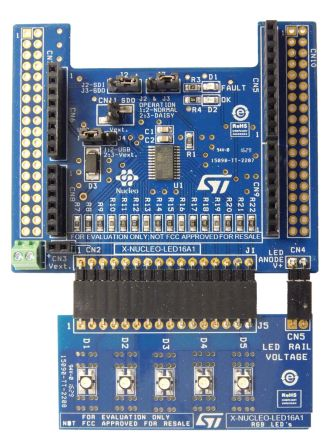 STMicroelectronics X-NUCLEO-LED16A1 LED Driver for LED1642GW Expansion Board for STM32 Nucleo