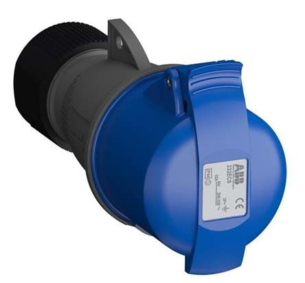 ABB Easy & Safe Series, IP44 Blue Cable Mount 2P+E Industrial Power Socket, Rated At 32A, 200 → 250 V