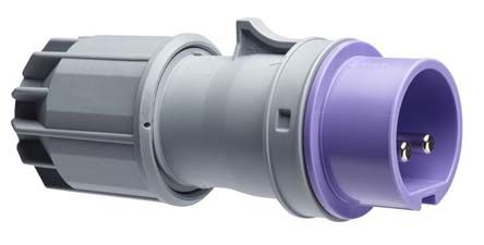 ABB Easy & Safe Series, IP44 Purple Cable Mount 2P Industrial Power Plug, Rated At 16A, 20 → 25 V ac
