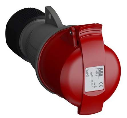 ABB Easy & Safe Series, IP44 Red Cable Mount 3P+E Industrial Power Socket, Rated At 16A, 380 → 415 V
