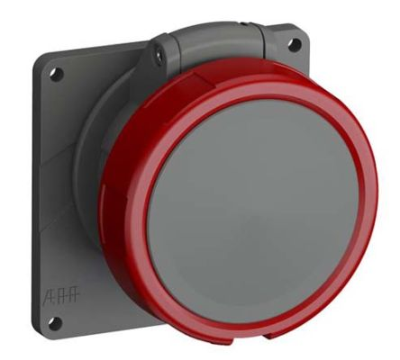 ABB Easy & Safe Series, IP67 Red Panel Mount 3P+E Industrial Power Socket, Rated At 32A, 380 → 415 V