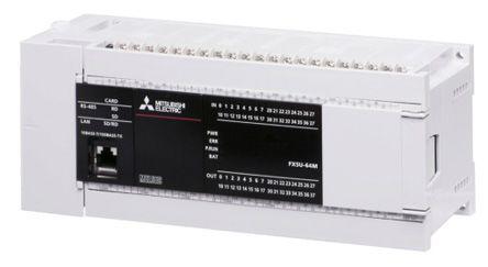 Mitsubishi MELSEC iQ-F PLC CPU Computer Interface, 128 kB Program Capacity,  32 Inputs, 32 Outputs, 5 V dc, 24 V dc