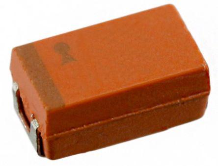 AVX 100μF 10V dc Tantalum Capacitor Tantalum Solid ±20% Tolerance TAJ Series