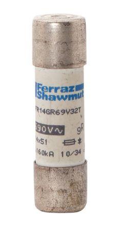 Mersen Protistor 25A Cartridge Fuse, 14.3 x 51mm