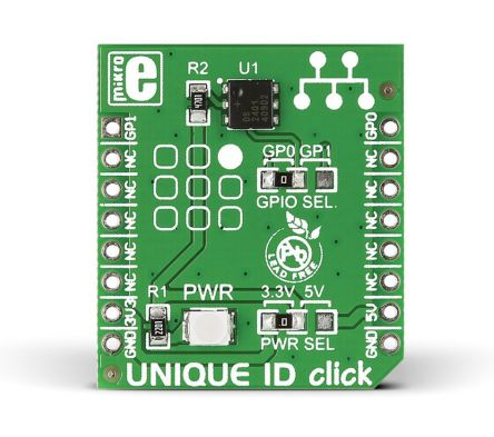 MikroElektronika MIKROE-1819, UNIQUE ID click Development Board for DS2401 for MikroBUS