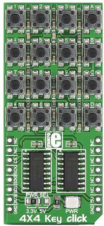 MikroElektronika 4 x 4 Key Keypad mikroBus Click Board