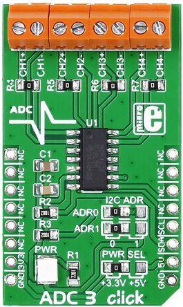 MikroElektronika MIKROE-1894 ADC3 Click 16-Bit ADC mikroBus Click Board for MCP3428